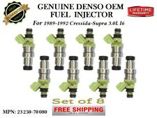 8x Reman Fuel Injectors OEM DENSO for 1989-1992 Toyota Supra 3.0L I6 NO TURBO