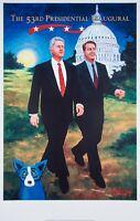 "Bill Clinton & Al Gore limited edition George Rodrigue ""Blue Dog"" poster! RARE!"