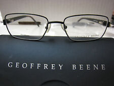 GEOFFREY BEENE EYEGLASS FRAMES Style PREMIER BLACK 53-17-140 W/ Case
