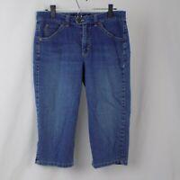 Gloria Vanderbilt Perfect Fit Blue Jeans Pants Capri Women Size 10 Stretch Beach