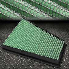 FOR 06-15 FORD GALAXY II/VOLVO V70 III GREEN WASHABLE HIGH FLOW AIR FILTER PANEL