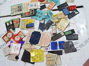 LOT 25x hand sewing needles ANTIQUE NEEDLE LABEL pack collection vintage antique