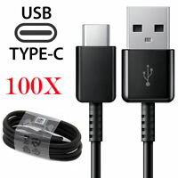 100x For Samsung Galaxy S8 S9 S10 S20 Ultra Note10 Fast Charger USB Type C Cable