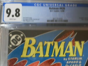 BATMAN 426 CGC 9.8 NEWSSTAND VARIANT A DEATH IN THE FAMILY PART ONE POPULAR BOOK