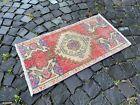 Turkish  natural dyed rug, %100 wool rug, Vintage rug, Carpet   1,5 x 2,8 ft