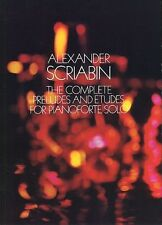 Scriabin Complete Preludes Etudes Pianoforte Solo Play Piano Music Book