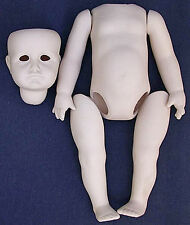 "Vtg Kammer-Reinhardt Kr 114 Ceramic Bisque 11"" Gretchen Doll Parts Kit~Head~Body"