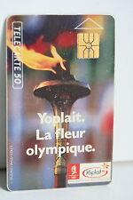 TELECARTE 50 YOPLAIT LA FLEUR OLYMPIQUE 1992