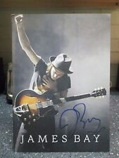James Bay signed tour book