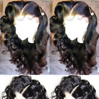 Pre Plucked Natural Loose Wave Full Lace Front Wigs Indian Remy Human Hair Wig R