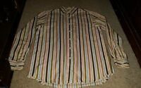 Lucky Brand Button Down Shirt Mens Size Small Cotton Striped Long Sleeve