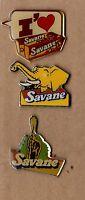 lot de 3 pin's / gateaux Savane (éléphant, girafe - époxy)