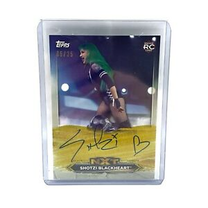 Autographed Shotzi Blackheart 2020 NXT Roster Rookie Card No 5/25 in Sleeve