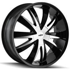 4-NEW Dip D37 Edge 18x7.5 5x112/5x120 +40mm Black/Machined Wheels Rims