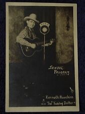 1930s COUNTRY SINGER w/Guitar WIND Radio Photo KENNETH HOUCHINS Yodeling Drifter