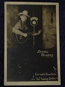 1930s KENNETH HOUCHINS Promo Photo WIND RADIO Country Singer Yodeling Drifter