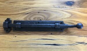"""Custom Hand Forged Iron Slide Bolt - 14"""" (Other sizes available)"""