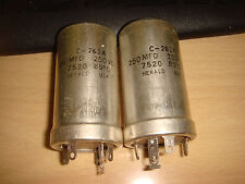 2 X HERALD C-261A 250uF 250V ELECTROLYTIC CAPACITOR FOR MCINTOSH MC 225 MC240