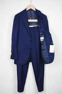 RRP$599 SUITSUPPLY LA SPALLA Men UK36R Wool Silk Linen Check 2-piece Suit 16243