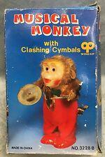 Vtg Wind-Up Musical Monkey w/Cymbal~Original Box Japan~Not Working~Free Shipping