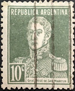 Stamp Argentina SG535 1924 10c General San Martin without dot Used