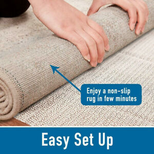 Hot Rug Pad Non Skid Slip Area Mat Underlay Nonslip 2'x8' 5'x7' 8'x10' 9'x12'Pad