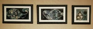 Camille Rose Garcia triptych signed framed Subterranean Orphans set