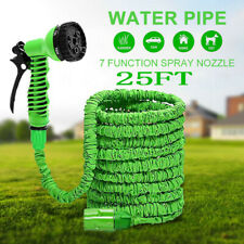 Extra Long Retractable Expandable Magic Garden Hose Pipe & Spray Gun 25FT UK