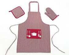Kitchen Aprons Baking Cooking Crafts Bbq Bib Dress With Mat & Mitten Combo