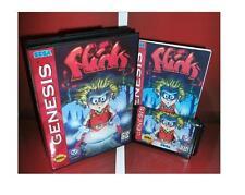 Flink US Cover for Sega MegaDrive Video Game console system 16 bit MD card