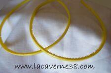 Lot de 2 serres tête jaune acrylique avec picots accessoires cercle cheveux