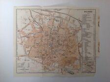 Piano di Bologna, Italia, 1909 Antico Mappa, ORIGINALE