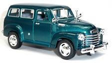 1950 Chevrolet Suburban Carryall Sammlermodell 12,2 cm grün metallic KINSMART