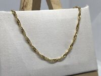 9ct 375 Yellow Gold 2mm Singapore Link Chain Necklace ALL SIZE Brand NEW