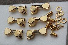 "1 Set Gold 3L/3R electric guitar keystone Locking tuner peg by ""Jin Ho"" in korea"