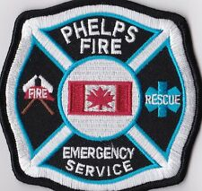 Phelps Fire Emergency Service Canada Firefighter Patch NEW!!