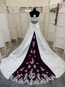 BNWT Alfred Angelo Bridal wedding dress size 8 NEW satin