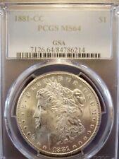 1881 CC Morgan Silver Dollar PCGS MS64 .900 Silver $1 GSA Hoard