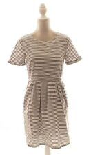 Madewell Gray & White Stripe Short Sleeve Casual Dress Size 4