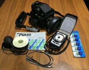 MAMIYA M645J SLR Camera - 80mm f2.8 Lens - PD Prism Finder S & lots of extras