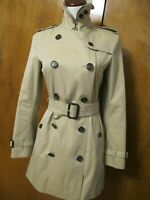 Burberry Kensington Trench Coat US 4 Honey