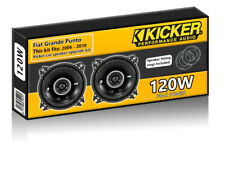"Fiat Grande Punto Rear Door Speakers Kicker 4"" 10cm car speaker upgrade 120W"