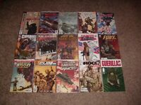 HUGE LOT OF 40 ARMY/MILITARY THEMED COMICS! SGT. ROCK TANK GIRL DMZ + MANY MORE