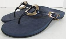 $110 Vionic Orthaheel Womens Yolanda Flip Flop Dress Sandal Shoes, Navy, US 11
