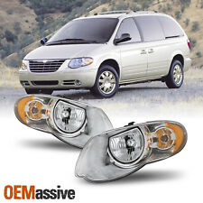 For 2005-2007 Chrysler Town & Country Oe Style Headlights Housing Pair Assembly (Fits: Chrysler)