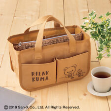 New SAN-X RILAKKUMA Convenient Lightweight Tote Bag with Pouch (Japan Magazine)