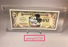 2008 Framed Disney Dollars $1 Mickey 80th Anniversary SN A00139064