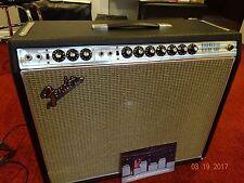 "Vintage Fender Silverface Bandmaster Reverb 15"" JBL Drip Edge Combo Amp, 1969"