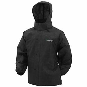 FROGG TOGGS Men's Classic Pro Action Waterproof Breathable Rain Jacket~Black~MED