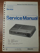Electronic Clock-Radeio 90AS790 Philips Service Manual Serviceanleitung